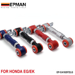 Wholesale EPMAN Control Arm RACING REAR ADJUSTABLE CAMBER ARMS KIT FOR Honda CIVIC Black Blue Red Sliver EP CA1029TZLG