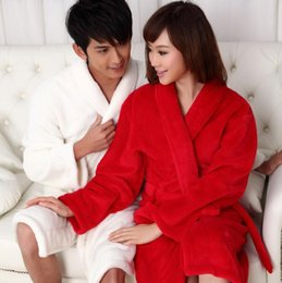 Wholesale Fashion Colors Winter Bathrobes Women Men s bathrobe Male Lovers Dressing Gown Robe Night Gowns Big Size Pajamas Thickening