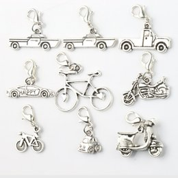 Wholesale MIC Styles Antique Silver Star Tire Racing Car Bike Motorcycle Charms Heart Floating Lobster Clasps Glass Living Memory Locket C264 C573