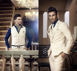 Suit Tuxedos Ivory Handsome Wedding Suits Design for Men Attractive Prom Tuxedos for Men Hot Design