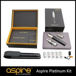 Wholesale - In Stock For Genuine Aspire Platinum Kit With 2ml Aspire Atlantis Tank And 2000mah Aspire SUB OHM Battery In Stock DHL Shipping