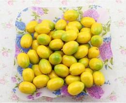 Wholesale 4CM Mini yellow artificial faux lemon simulation plastic fruits living room home decor
