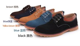 Wholesale New men leisure the velvet breathable bigger sizes shoes at the end of British beef tendon single shoe brand men s shoes