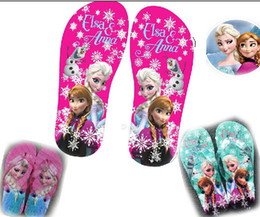 Children card Tong flops! Frozen ELSA & ANNA sandals! Sandals! Household shoes! 28-34 yards!sale .hot .outlets.drop shipping.10pairs 20pcs.