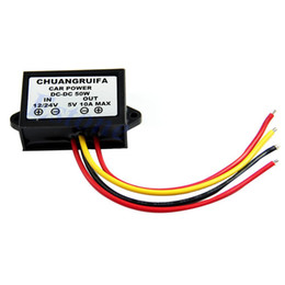 Wholesale hot sell PC Waterproof DC V to V A W Buck Step Down Converter Module Car Power