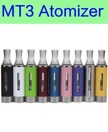Wholesale Comercio al por mayor MT3 atomizador cigarrillo electrónico bobina inferior rebuildable tanque Clearomizer para la batería EGO envío libre de DHL