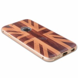 Wholesale Wood Grain Case for iPhone6 Aluminium Metal frame Back Case for iphone UK Flag NOT FOR iphone S