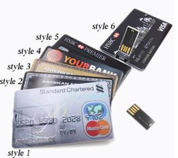 Wholesale 2015 GB GB GB GB GB GB GB GB American Express Credit Card Shape USB Flash Drive Pen Drive Memory Stick