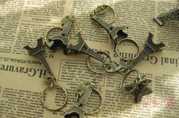 Wholesale Vintage D Paris Eiffel Tower keychain French souvenir paris Keychain Keyring Key Chain Ring
