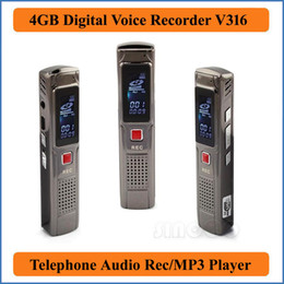 Wholesale Silver GB USB Digital Voice Recorder with MP3 Function USB High Speed and retail online Dictaphone Phone Audio VR316