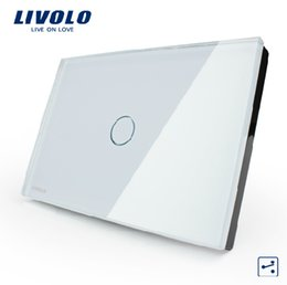 Wholesale Manufacturer US AU standard LIVOLO VL C301S gang way Touch Screen Light Switch White Crystal Glass Panel