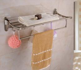 Wall Mounted Antique Brass Towel Shelf Foldable Towel Rack Holder W  Towel Bar