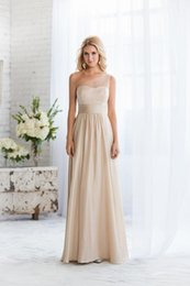 2016 New Elegant Maid Of Honor Dresses Champagne Chiffon With Clear Beadings Cheap Modest Bridesmaid Dresses beauty bridesmaids dresses