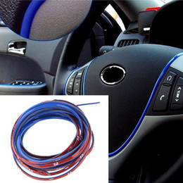 Wholesale 5M Auto Decoration Sticker Thread Car Interior Exterior Body Modify Decal Green Yellow Golden Blue Purple Silver Pink