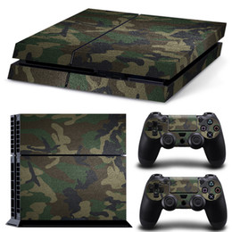 Camouflage Style Vinyl Decal PS4 Skin Stickers Protector For PlayStation 4 Console & 2 PCS Skin Stickers for PS4 Controller