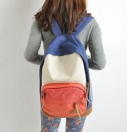 Wholesale 2016 Hot Sale New Casual Women s Colorful Canvas Backpacks Girl Lady Student School Travel Bags Mochila Japanese And South Korean Style