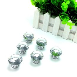 Wholesale 30pcs mm Clear Diamond Shape Crystal Glass Pull Handle Cupboard Cabinet Drawer Door Furniture Knob Wholesales