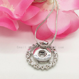 Wholesale new fashion simple style love letter heart mm Snap Button Chain Necklace Women Antique Silver Jewelry for Party best gifts