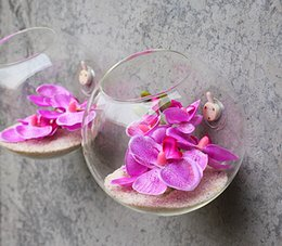 Half circle Glass vases flower pots planters wall hanging creative decoration DIY design