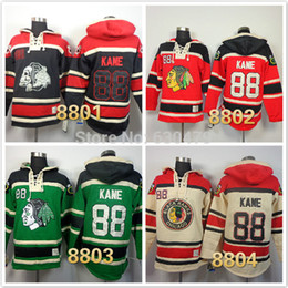 Wholesale Factory Outlet cheap stitched hockey hoodies chicago blackhawks Patrick Kane Pullover Men s ice hockey hoodies Hooded Sweatshirts