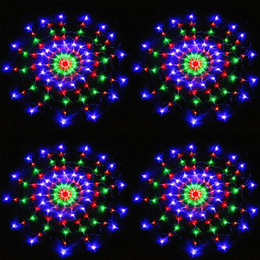 Promotion rgb led net 110V / 220V coloré RGB vacances éclairage LED Spider net lumière avec 120Leds lumière de Noël Party Wedding