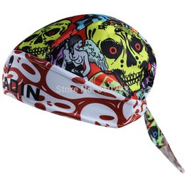 Wholesale-2015 New Coolmax Cycling Scarf Cap Bandana Cycling Headband Headwear For Men Women-Halloween Pirate