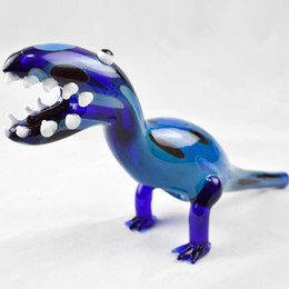 """Dinosaur Oil Burner Glass Pipes for Smoking 5"""" inch Unique Design Dab Rigs Animal Pipes for Smoking Herbal New Arrivals Heady Beaker Pipes"""