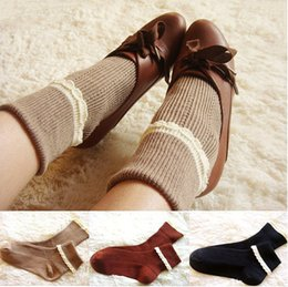 Wholesale-lace socks women lacey socks ladies hosiery short boot socks lace up combat boot socks VICTORIAN LACE two ways to wear