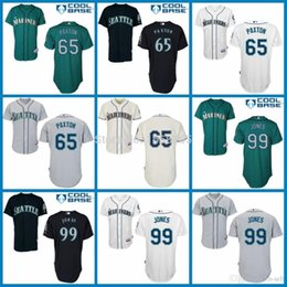 Wholesale 2015 New Hot Sale Seattle Mariners James Paxton James Jones Jerseys Men s Authentic Stitched Embroidery Logos Baseball Jersey