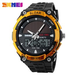 Wholesale Skmei Best Sports Watches For Men Solar Energy Watch Protection Multi Function Outdoor Sports Watch Dual Display Maxi Colar