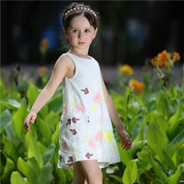 Pettigirl Fashion Baby Girls Dresses For Summer Children Clothing With Stitchwork And Print Pattern Child Princess Dress GD80722-6C
