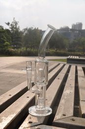 Wholesale 2015 New quot DOUBLE CHAMBER ATOMIC BOMB PERC WATER PIPE with mm quarte domeless adapter heavy glass bong smoking bubbler
