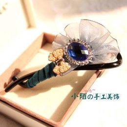Wholesale Small street handmade hair accessories Korean pop jewelry boutique bow hairpin headdress Korean Anne wonderland
