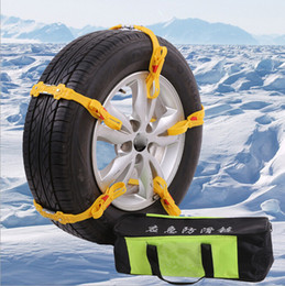Wholesale 10Pcs Adjustable Car Tire Snow Chains Emergency Anti Slip Chain Fit for Tyre Width mm