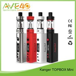 Authentic Kanger Topbox Mini Starter Kit With Kbox 75W TC Mod 3.5ML Toptank Mini Kanger Subox Mini Starter Kit