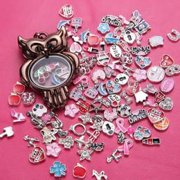 .Pendant Floating owl floating charm locket Living Memory Floating Locket Pendant floating charms locket alloy Necklaces Charms