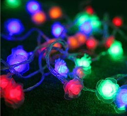 New design led string light 30M flowers 110V   AC220V colorful holiday led lighting waterproof outdoor decoration light christmas light