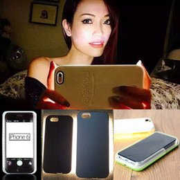 Wholesale LuMee fill in light phone case for iphone6 s plus selfie case cover with LED light shiny protective shell shockproof back cover for iphone