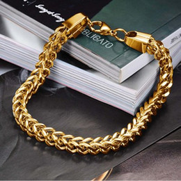 The classic chain HI-Q Influx men titanium stainless steel 14K gold plated chain bracelets for men's gift jewelry elegant bracelets