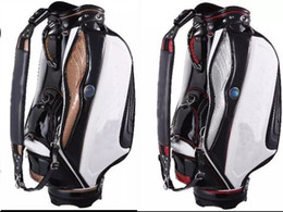 Wholesale golf staff bag new style Ti PU black white Golf cart Bags quot in dividers
