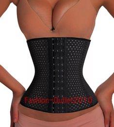 Wholesale body shaper sexy women Deportiva Sport Waist Cincher steel bone corset top Ann Chery Style black Spiral Steel Boned