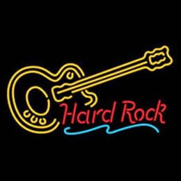 Wholesale Hard ROCK LIVE MUSIC Guitar Party Neon Light Sign Nikke Air Jorrdan Neon Real Glass Tube Handcrafted Dallas cowboys jersey