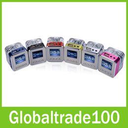 Wholesale TT TT029 Colorful LED Light Mini LCD Speaker FM Radio Music MP3 Player Loudspeaker With TF USB Slot