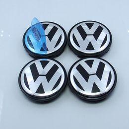 Wholesale 4 set VW mm Wheel Center Caps Fits For Volkswagen Jetta Golf Cabriolet Citi Lupo Passat Vento Bora New Beetle Mk4