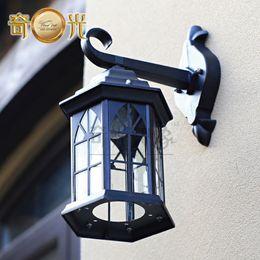 Wholesale fashion LED wall lamp aluminum waterproof LED garden light outdoor balcony lamps w E27 bulb