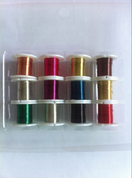 Wholesale 24 gauge mm FT roll roll colors plated round copper wire artistic wire jewelry wire DIY bead wire buy the dozen