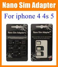 Nano Sim Adapter Micro SIM Nano Sim for iphone 4 4s iphone 5 dual Sim card tray holder R-sim + nano sim adapter + micro sim adapter OTH023