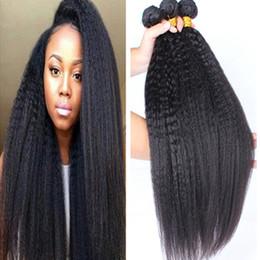 7A Top Grade Malaysian Kinky Straight Virgin Human Hair 3 Bundles 100% Carse Yaki Virgin Human Hair Large In Stocks