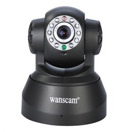 Wholesale Wanscam Security Dome Camera P2P IR LED Night Vision WPA Wireless Network Pan Tilt Dual Audio CCTV IP Camera Language Support