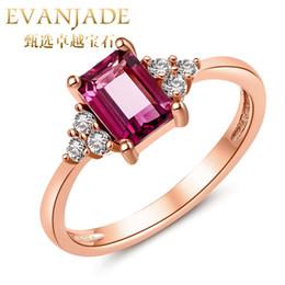 Wholesale Brilliant color tourmaline magnesium aluminum garnet ring princess women K rose gold plated sterling silver breadwinner